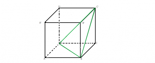 ce triunghi obtinem din diagonalele fetelor laterale ale unui cub