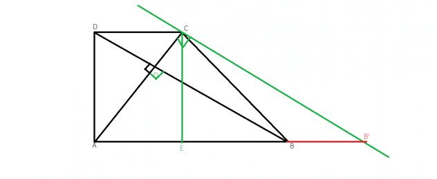 cum aflam inaltimea intr-un trapez ortodiagonal
